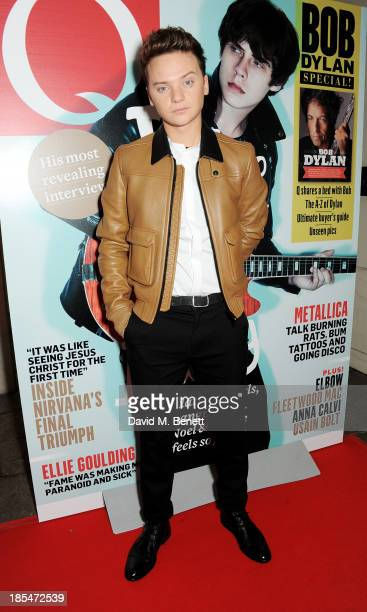 Conor Maynard arrives at The Q Awards at The Grosvenor House Hotel on October 21 2013 in London England