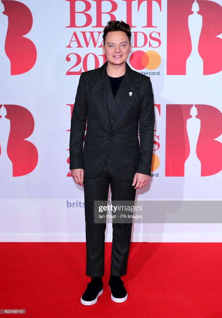 Conor Maynard attending the Brit Awards at the O2 Arena, London