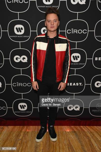 Conor Maynard attends the Brits Awards 2018 After Party hosted by Warner Music Group Ciroc and British GQ at Freemasons Hall on February 21 2018 in...