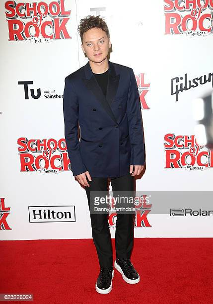 Conor Maynard attends the opening night of 'School Of Rock The Musical' at The New London Theatre Drury Lane on November 14 2016 in London England
