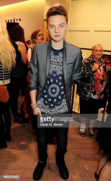 Conor Maynard attends the Sandro London flagship store launch in Covent Garden on September 11 2013 in London England