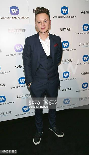 Conor Maynard attends The Warner Music Group And Belvedere Brit Awards After Party In Association With Vanity Fair at The Savoy Hotel on February 19...