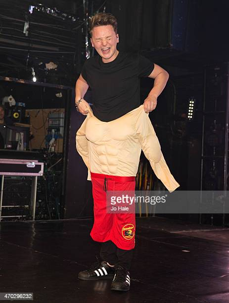 Conor Maynard dressed in a Muscle Costume as a look a like at Heaven on April 18 2015 in London United Kingdom