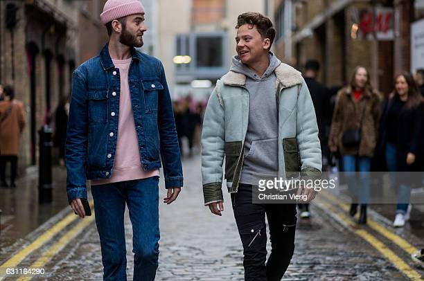 Conor Maynard during London Fashion Week Men's January 2017 collections at YMC on January 7 2017 in London England