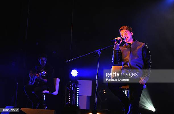 Conor Maynard performs at the switch on of Bluewater Christmas Lights at Bluewater Shopping Centre on November 16 2012 in Greenhithe England