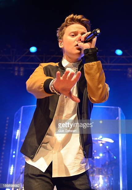 Conor Maynard performs on stage as part of the MTV Brand New series at The Forum on January 22 2013 in London England