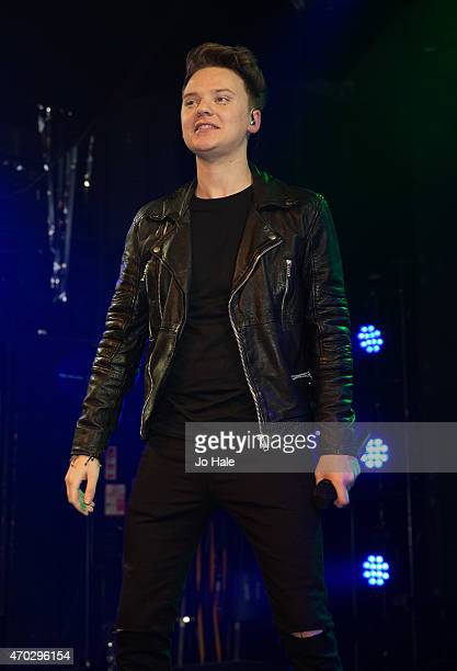 Conor Maynard performs on stage at Heaven on April 18 2015 in London United Kingdom