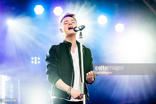 Conor Maynard performs on stage at SD2 Festival 2013 at Stamner Park on September 29 2013 in Brighton England