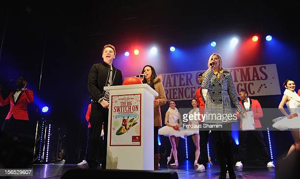 Conor Maynard switches on the switch on of Bluewater Christmas Lights at Bluewater Shopping Centre on November 16 2012 in Greenhithe England