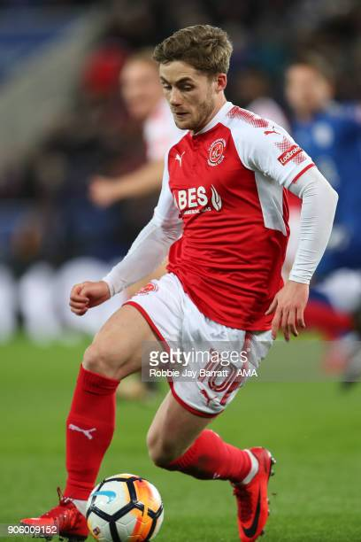Conor McAleny of Fleetwood Town during The Emirates FA Cup Third Round Replay match between Leicester City and Fleetwood Town at The King Power...