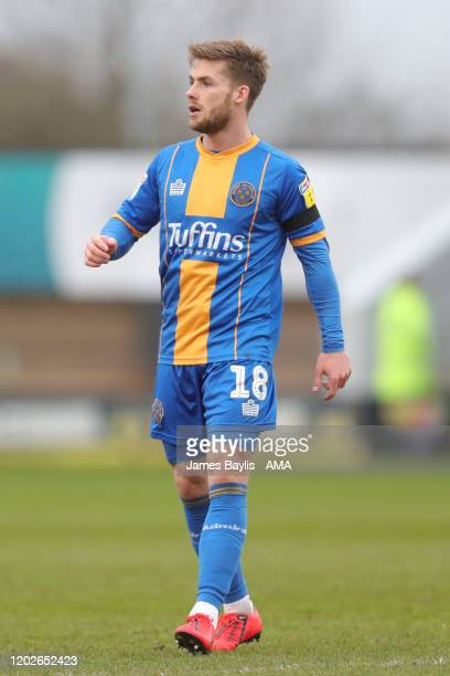 Conor McAleny of Shrewsbury Town during the Sky Bet League One match between Shrewsbury Town and Doncaster Rovers at Montgomery Waters Meadow on...