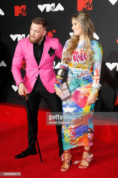 Conor McGregor and Dee Devlin attend the 2021 MTV Video Music Awards at Barclays Center on September 12, 2021 in the Brooklyn borough of New York...