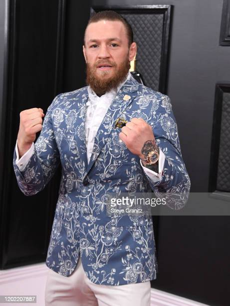 Conor McGregor arrives at the 62nd Annual GRAMMY Awards at Staples Center on January 26 2020 in Los Angeles California