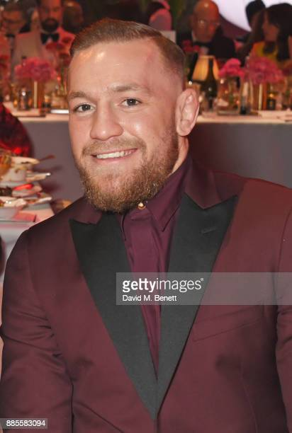 Conor McGregor attends a drinks reception ahead of The Fashion Awards 2017 in partnership with Swarovski at Royal Albert Hall on December 4 2017 in...
