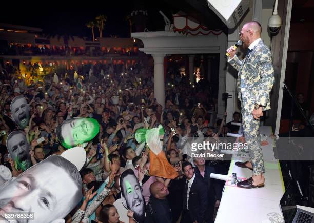Conor McGregor attends his after fight party and his Wynn Nightlife residency debut at the Encore Beach Club at Night at Wynn Las Vegas on August 27,...