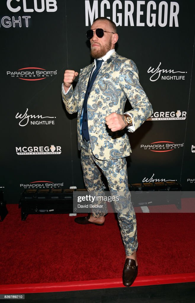 Conor McGregor After-Fight Party And Wynn Nightlife Residency Debut, Encore Beach Club At Night In Wynn Las Vegas : News Photo