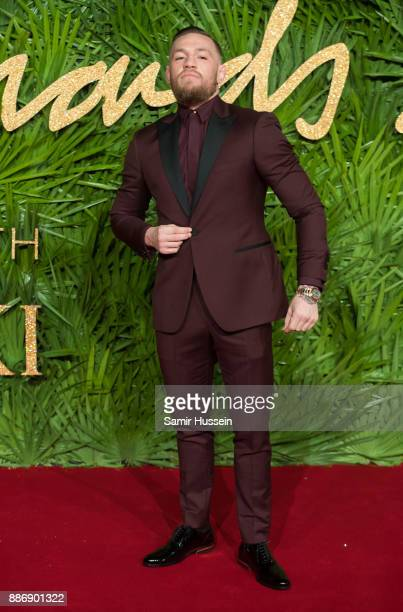 Conor McGregor attends The Fashion Awards 2017 in partnership with Swarovski at Royal Albert Hall on December 4 2017 in London England