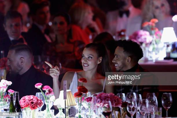 Conor McGregor Irina Shayk and Lewis Hamilton during The Fashion Awards 2017 in partnership with Swarovski at Royal Albert Hall on December 4 2017 in...
