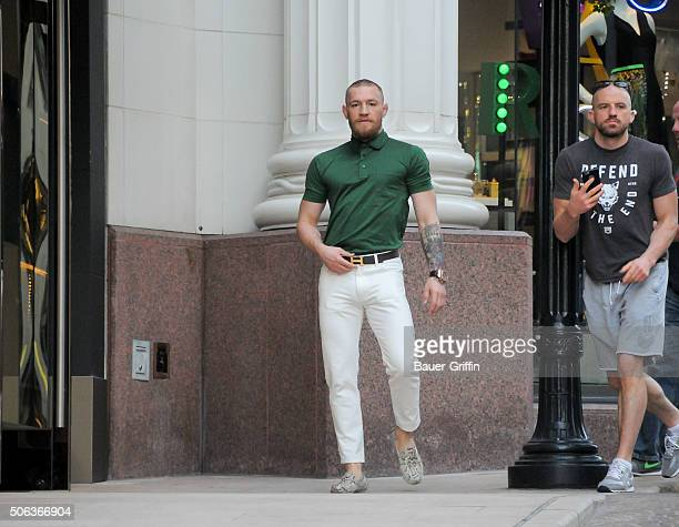 Conor McGregor is seen on January 22 2016 in Los Angeles California
