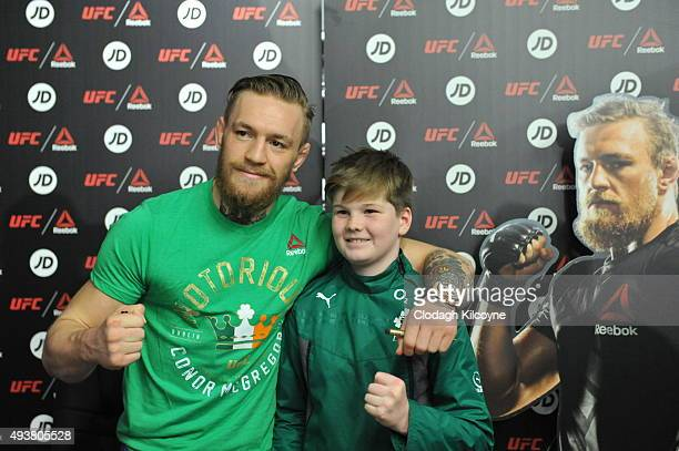 Conor McGregor meets fans at a Reebok UFC Combat Gear retail event held at JD Sports on October 22 2015 in Dublin Ireland