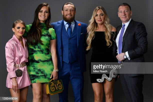 Conor McGregor of Ireland and family during the UFC 246 event at T-Mobile Arena on January 18, 2020 in Las Vegas, Nevada.