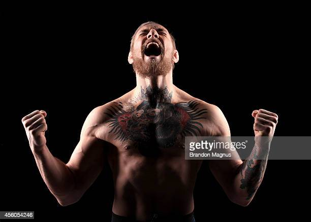 Conor McGregor poses for a portrait on September 24 2014 in Las Vegas Nevada