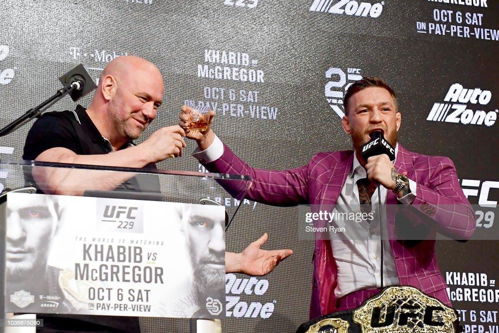 UFC 229: Khabib v McGregor Press Conference : News Photo
