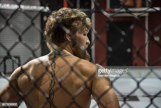 Conor McGregor warms up at the TUF gym on June 19 2015 in Las Vegas Nevada