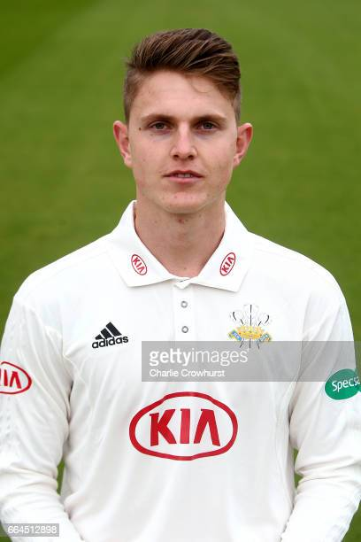 Conor McKerr poses in the Specsavers County Championship kit during the Surrey CCC Photocall at The Kia Oval on April 4 2017 in London England