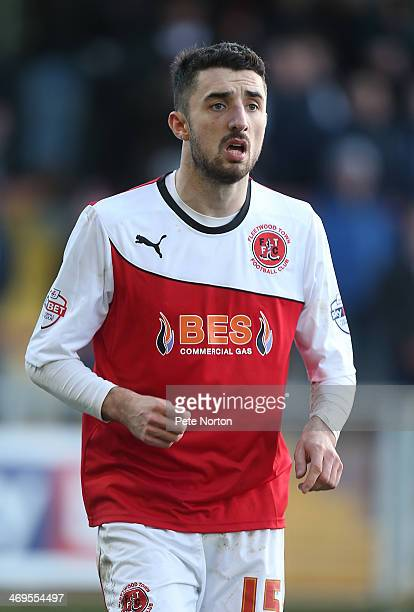 Conor McLaughlin of Fleetwood Town in action during the Sky Bet League Two match between Fleetwood Town and Northampton Town at Highbury Stadium on...
