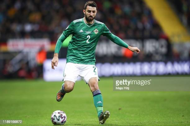 Conor McLaughlin of Northern Ireland controls the ball during the UEFA Euro 2020 Qualifier between Germany and Northern Ireland at Commerzbank Arena...