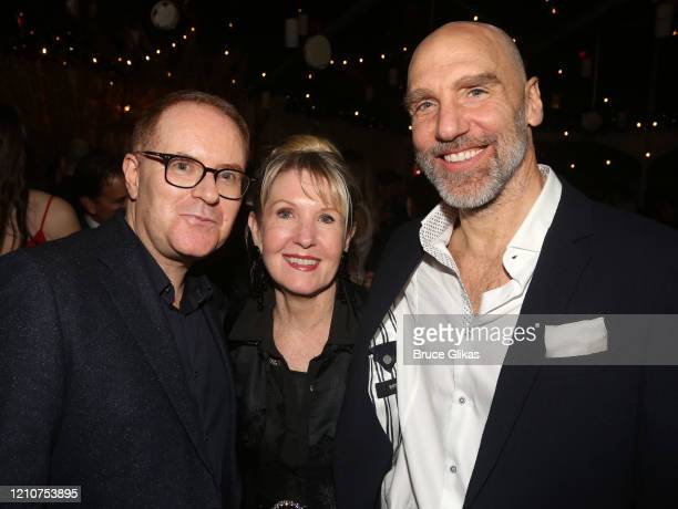 Conor McPherson Patricia Wilcox and John Schiappa pose at the opening night after party for the new Bob Dylan Musical Girl From The North Country on...