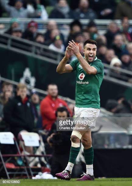 Conor Murray of Ireland during the Six Nations Championship rugby match between Ireland and Wales at Aviva Stadium on February 24 2018 in Dublin...