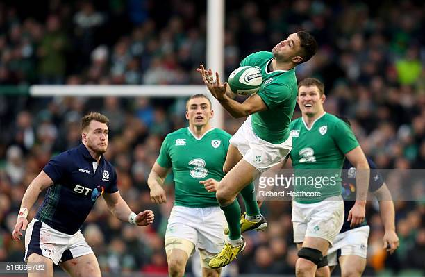 Conor Murray of Ireland in action during the RBS Six Nations match between Ireland and Scotland at the Aviva Stadium on March 19 2016 in Dublin...