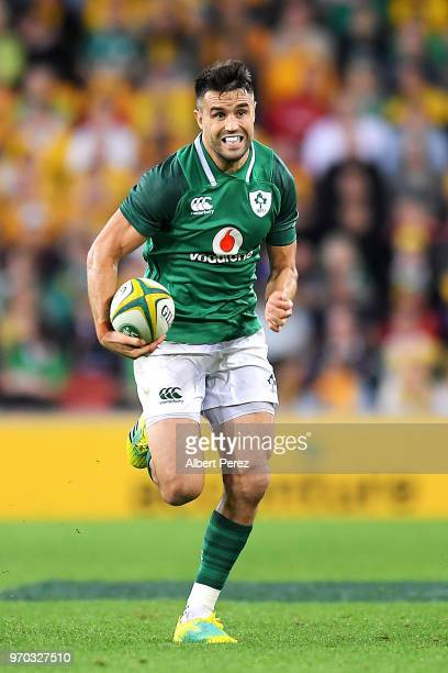 Conor Murray of Ireland runs with the ball during the International Test match between the Australian Wallabies and Ireland at Suncorp Stadium on...