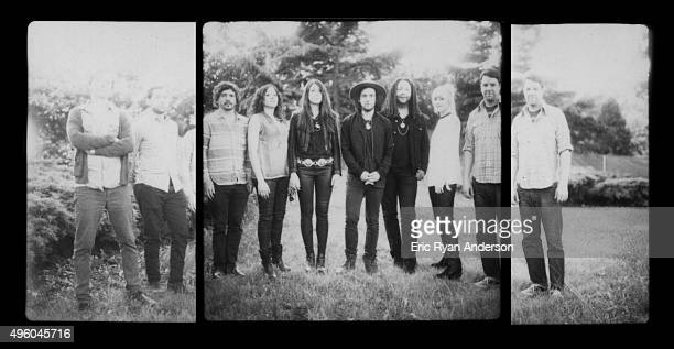Conor Oberst and band poses for a portrait at the Governors Ball 2015 Music Festival for Billboard Magazine on June 6 2015 in New York City