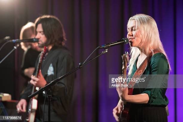 Conor Oberst and Phoebe Bridgers of Better Oblivion Community Center perform onstage during The Drop Better Oblivion Community Center April 18 2019...