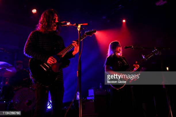 Conor Oberst left and Phoebe Bridgers perform with Better Oblivion Community Center at The Sinclair in Cambridge MA on March 28 2019
