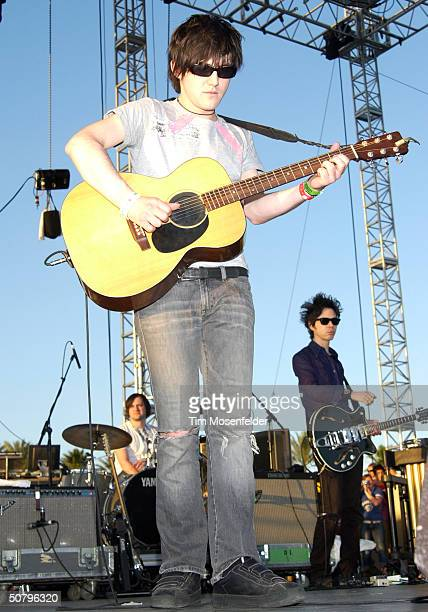 Conor Oberst of Bright Eyes performing at the Coachella Music and Arts Festival at the Empire Polo Grounds on May 2 2004 in Indio California