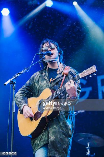 Conor Oberst performs on the Mountain stage during day 4 at Green Man Festival at Brecon Beacons on August 20, 2017 in Brecon, Wales.