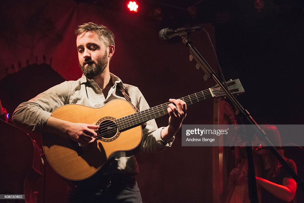 Conor O'Brien of Villagers performs on stage at Brudenell Social Club on February 3, 2016 in Leeds, England.