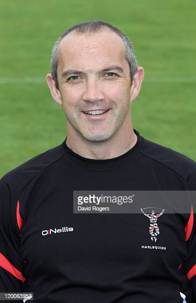 Conor O'Shea director of rugby of Harlequins poses for a portrait at the photocall held at Surrey University on July 29 2011 in Guildford England