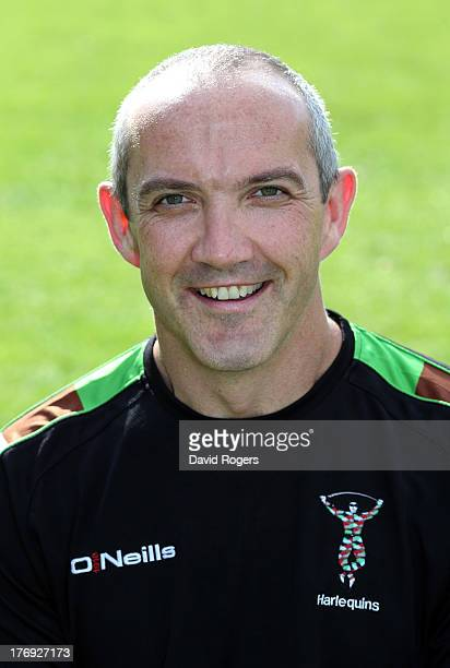 Conor O'Shea director of rugby of Harlequins poses for a portrait at the Surrey Sports Park on August 19 2013 in Guildford England