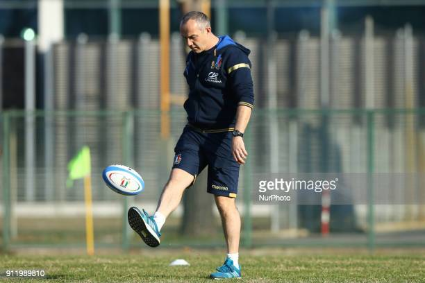 Conor O'Shea head coach of Italy during the rugby national team training session in view of the beginning of the Six Nations 2018 at Giulio Onesti...