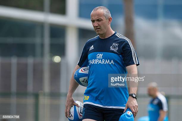 Conor O'Shea new head coach of Italian Rugby team during the training session on May 30 2016 in Rome Italy