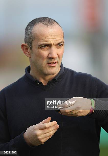 Conor O'Shea the Harlequins director of rugby looks on during the Aviva Premiership match between Exeter Chiefs and Harlequins at Sandy Park on...