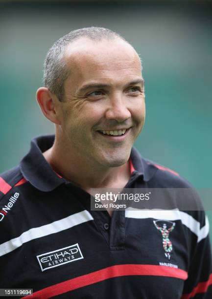 Conor O'Shea the Harlequins director of rugby looks on during the Aviva Premiership match between London Wasps and Harlequins at Twickenham Stadium...