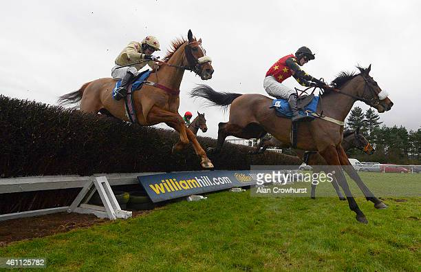 Conor Smith riding Always Bold clear the last to win The Annual Members Racing Excellence 'Hands and Heels' Handicap Steeple Chase at Ludlow...