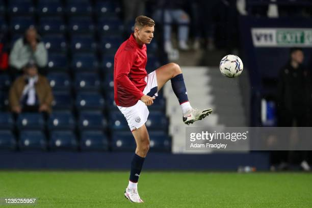 Conor Townsend of West Bromwich Albion during the pre-match warm up ahead of the Sky Bet Championship match between West Bromwich Albion and Derby...
