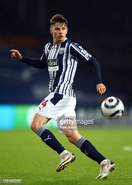 Conor Townsend of West Bromwich Albion during the Premier League match between West Bromwich Albion and Everton at The Hawthorns on March 4, 2021 in...